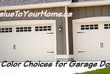 Garage Doors / Ideas to make your garage door pop!