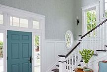 Doors: Interior / Paint color & ideas to paint the doors INSIDE your house.  No more boring white!