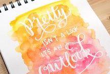 Caligrafía! / Ideas geniales con letras handmade...