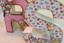 Letras decoradas! / Mil ideas para decorar letras de papel maché...