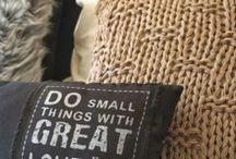 Adornos de lana / Adornos de lana para la casa