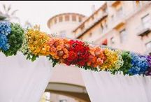 Rainbow Inspired Weddings Ideas / Wedding inspired by all the colours of the rainbow