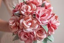 Flores de papel!