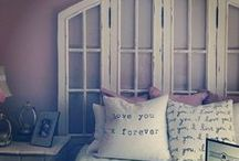 Tête de lit / Cabeceiras de cama, rústicas e com aproveitamento de materiais-