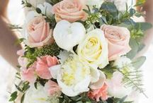 Forget-Me-Not Flowers Wedding Bouquets / A collection of beautiful hand tied wedding bouquets