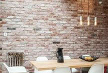 Brick Room Ideas Accent Walls | Brick Room Cabinet Colours | Brick Room Interior Design Inspiration / Come on, who hasn't sighed dreamily at a beautiful brick wall in an equally well- designed room? Rooms with brick walls is usually a place that reflects a warm and lively ambiance.