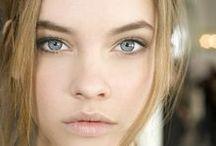 (no-makeup) makeup / natural looking face, dewy skin, bold lip