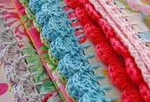 Stitches and edging / Different crochet stitches, trim and more