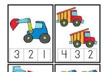 Liczenie i kształty / Ćwiczenia związane z cyferkami i poznawaniem kształtów
