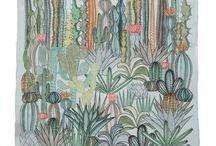 leaves & cactus