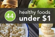 Eating Healthy for Less / Yes, you can eat healthy food — even if you have a small budget. Here are some tips to make healthy, great tasting meals. #HealthyEating #Dinner #Budget #CheapEats