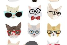 Cat and Dog Patterns / A collection of prints, illustrations and repeating patterns that feature my favourite animals cats and dogs!