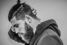 MEN:BUNS & BEARDS / Mens hair buns and beards