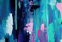Sabina Klein / Sabi Klein is a contemporary abstract artist who loves to work with bright, bold color palettes and textures.  Based in Melbourne and living close to the bay, her work is often influenced by the ocean, sunsets and landscapes which take shape in abstract form within her work.