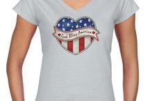 Patriotic Junior V-Necks