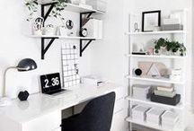 Home Office Decor Ideas | Home Office Design | Home Office Interior Design Inspiration / You won't mind getting work done with a home office like one of these. Decorating ideas for a home office, including ideas for a small space, desk ideas, layouts, and cabinets.