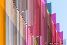 Colored shading facade system