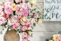 Wedding Ideas / Love, laughter and happily ever after: that's what #MyHomeSense weddings are made of. From wedding signs and paper pin wheels to fantastic faux florals, discover how to create a gorgeous wedding display, perfectly priced, with HomeSense.