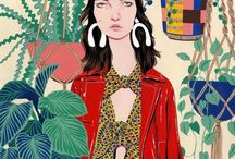 Portraits illustrated / Illustrations of people, portraits and characters collecting together styles of illustration that inspire me!