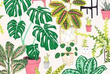 Plants are friends / I love house plants! Here is some prints, Illustrations and patterns inspired by plants!