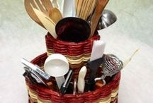 Kitchen Organization / All of our handmade mahogany baskets will help you get organized in your kitchen! Once you have one of our baskets you will wonder how you ever functioned without it! They also have a lifetime guarantee.