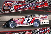 Late Model Racing / Dirt Track Late Model race cars.