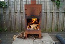 Vuur in de tuin / Tuinkachels, tuinhaarden, vuurschalen, barbecues en houtopslag