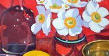 Art - Still Life Sa Flowers in Vases