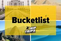 Bucketlist / Seeing the Taj Mahal, witnessing a sunset at the Pyramids or getting a glimpse on the lush green mountain ranges of Machu Picchu? This bucketlist has it all.