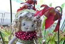 Bamboline da favola  / piccole bambole racchiuse in una scatola che racconta una storia....creazioni Marta Anzolla