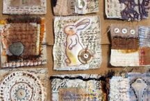 fabric and journal pages