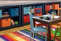 Get Organized!  / Seriously... how much would you pay to have your playroom look like this? Not much - at Here Today! We've got all the storage bins, crates, tags and baskets to make your home a touch more organized... at least for a while. De-clutter and de-stress!