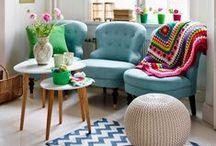 ♥ H o m e || C r o c h e t / Inspirações de decoração para casa usando o crochê.