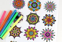Mandalas und malen / How to draw mandalas, instructions + ideas