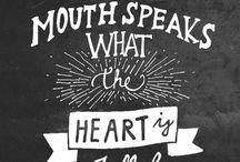 Fill My Heart!  Luke 6:45 /  † ♥ ✞ ♥ †