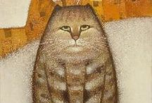 cat art and other stuff - 3 / by Ann Bickel