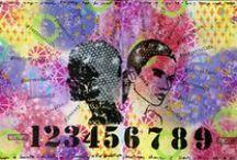 TCW in Art Journals / Art Journals using The Crafter's Workshop stencils  #TCWstencillove www.thecraftersworkshop.com/blog