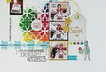 TCW on Scrapbook Layouts / Scrapbook layouts using The Crafter's Workshop stencils  #TCWstencillove  www.thecraftersworkshop.com/blog