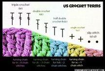 Crochet e tricot com esquemas