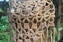 Tops e coletes em crochet