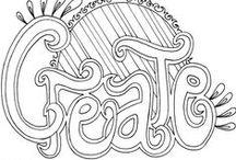 Colorir com Letras