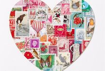 Postage Stamp Crafts / Crafts using those vintage stamps