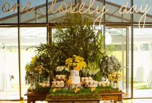 Wedding / Romantic weddings, yellow, white and green. Cakes and cupcakes. One Lovely Day. Sandra and Alfie's wedding (thats us) styled by the Style Co @ Werribee Mansion. Plus other summer wedding ideas.