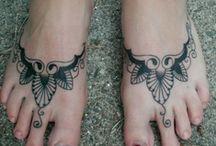 Foot Tattoo Pieces