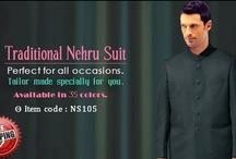 Mens nehru collar suit