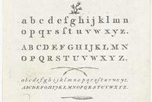 Handwriting and Typography ~ 18th and 19th centuries