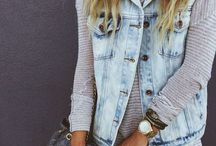 Denim vest outfit