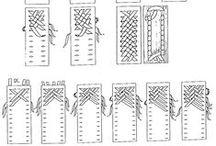 schemi intrecci cannucce carta / #conlemani #creaconlacarta