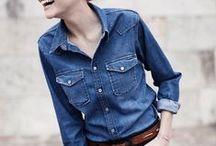 Inspiración: Camisa denim | Denim Shirt / #moda #inspiración #looks #outfit #denim #shirt