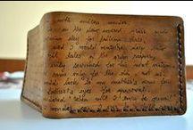 custom personalised men leather wallet / personalized men leather wallet